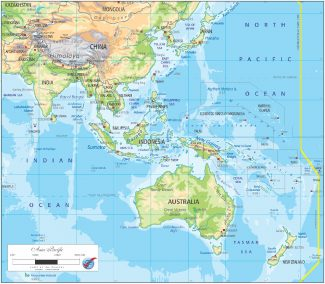 AS/OGMAP02 Asia Pacific Physical Map
