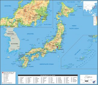 AS/OGMJ02 Japan Physical Map