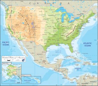 AS/OGMS02 United States Physical Map