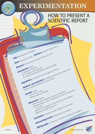 How to Present a Scientific Report
