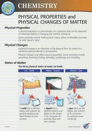 Physical Properties and Physical Changes of Matter