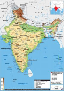 India Physical Maps