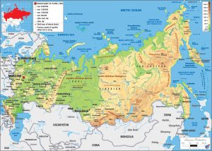 Russia Federation Physical Map