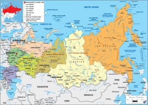 Russia Federation Political Map